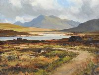 IN THE INAGH VALLEY, CONNEMARA by Maurice Canning  Wilks ARHA RUA at Ross's Auctions