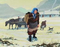 THE TWO SISTERS IN WINTER by Cupar Pilson at Ross's Auctions