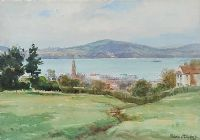 VIEW OF HOLYWOOD, COUNTY DOWN by Frank McKelvey RHA RUA at Ross's Auctions