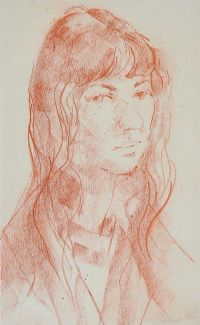 PORTRAIT OF A GIRL by George Campbell RHA RUA at Ross's Auctions