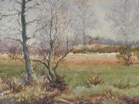 LAGAN VALLEY IN WINTER by Francis J. Neill ARUA at Ross's Auctions