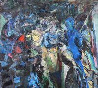 GATHERING by David Crone RHA RUA at Ross's Auctions