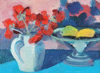 POPPIES IN A JUG by Brian Ballard RUA at Ross's Auctions