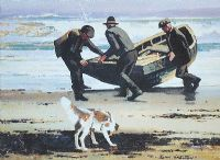 LAUNCHING THE BOAT by John Skelton at Ross's Auctions