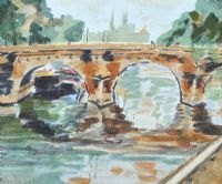 BRIDGE OVER THE CANAL by Arthur Armstrong RHA RUA at Ross's Auctions