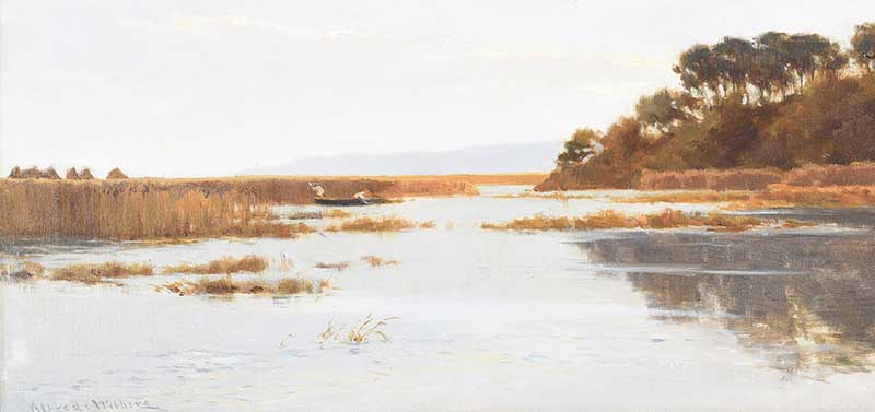OIL ON CANVAS - ALFRED WITHERS at Ross's Online Art Auctions