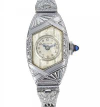 BULOVA STAINLESS STEEL LADY'S COCKTAIL WATCH at Ross's Auctions