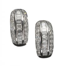 18CT WHITE GOLD AND DIAMOND DRESS EARRINGS at Ross's Auctions