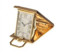 14CT GOLD TRAVEL CLOCK at Ross's Auctions