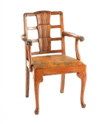 ANTIQUE WALNUT ARMCHAIR at Ross's Auctions