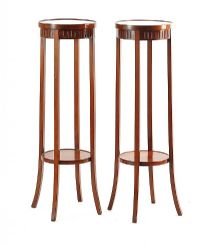 PAIR OF MAHOGANY PLANTSTANDS at Ross's Auctions