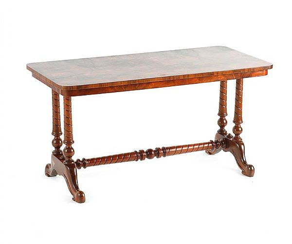 Victorian Coffee Table Set: VICTORIAN WALNUT COFFEE TABLE