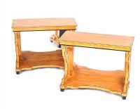 PAIR OF SATINWOOD CONSOLE TABLES at Ross's Auctions