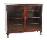 ANTIQUE MAHOGANY GLAZED TWO DOOR BOOKCASE at Ross's Auctions