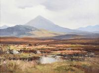 ERRIGAL MOUNTAIN FROM DUNLEWEY, COUNTY DONEGAL by Maurice Canning  Wilks ARHA RUA at Ross's Auctions