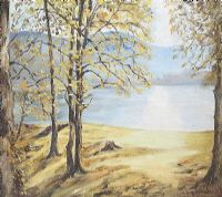 VIEW ACROSS THE LOUGH by Elsie G. Brown at Ross's Auctions