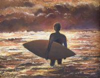 SUNSET SURFER by Valerie Gray at Ross's Auctions