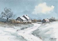 SNOW AT MIDNIGHT by Edna Murray at Ross's Auctions