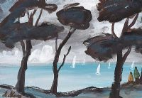 PINE TREES ON THE COAST by Markey Robinson at Ross's Auctions