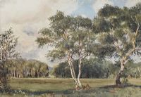 LANDSCAPE & WOODLANDS by Joseph Poole Addey at Ross's Auctions
