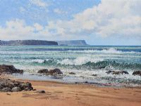 WHITEPARK BAY, COUNTY ANTRIM by David Long UWS at Ross's Auctions