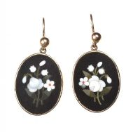 9CT VICTORIAN PIETRA DURA EARRINGS at Ross's Auctions