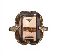 9CT GOLD AND SMOKY QUARTZ RING at Ross's Jewellery Auctions