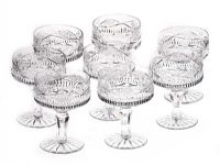 SET OF 8 TYRONE CRYSTAL DESSERT GLASSES at Ross's Auctions