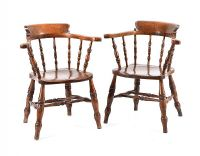 PAIR OF VICTORIAN CAPTAINS CHAIRS at Ross's Auctions