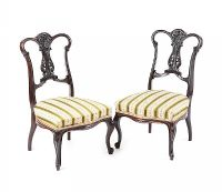 PAIR OF EDWARDIAN LOW CHAIRS 40