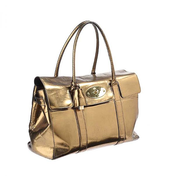 404dfd008b ... usa mulberry gold mirror metallic leather bayswater bag at rosss online  art auctions 38c9b c0eae