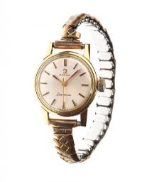 OMEGA GOLD-PLATED LADY'S WRIST WATCH at Ross's Jewellery Auctions