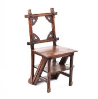 GOTHIC LIBRARY CHAIR at Ross's Auctions