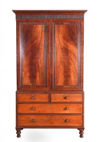 REGENCY MAHOGANY LINEN PRESS at Ross's Auctions