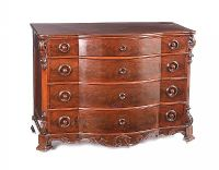 ANTIQUE MAHOGANY BOW FRONT CHEST OF DRAWERS at Ross's Auctions