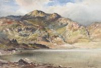 LOUGH AT THE FOOT OF THE MOUNTAINS by Wycliffe Egginton RI RCA