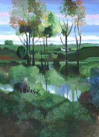 PATTERNS, RIVER & TREES by Leo Toye