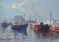 FISHING BOATS by Michael McCaig at Ross's Auctions