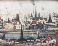 NORTHERN INDUSTRIAL SCENE by Laurence Stephen Lowry RA at Ross's Auctions
