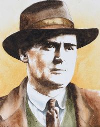 FLANN O'BRIEN by John Monaghan at Ross's Auctions