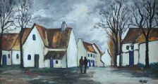 AN IRISH VILLAGE by Markey Robinson at Ross's Auctions