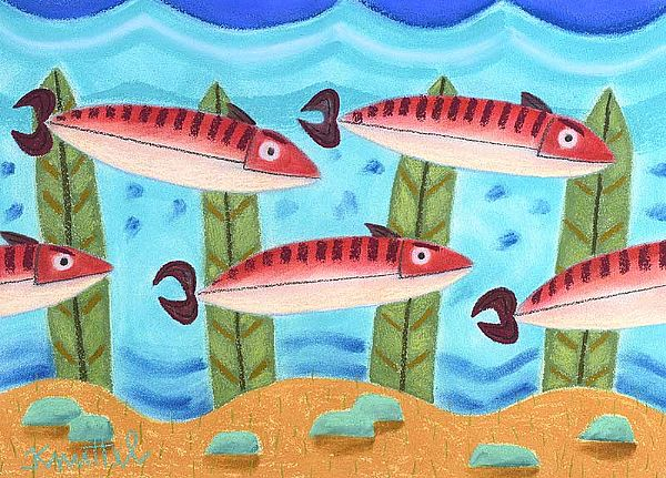 FIVE FISH by Graham Knuttel at Ross's Online Art Auctions