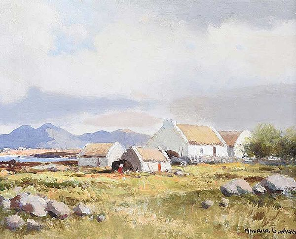 CONNEMARA COTTAGES by Maurice Canning  Wilks ARHA RUA at Ross's Online Art Auctions