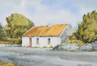 THATCHED COTTAGE IN THE GLENS by Alymer E. Armstrong UWS at Ross's Auctions