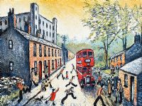 BUS TO TOWN by Michael Tobin at Ross's Auctions