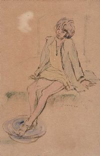 DIPPING HER FEET by Daniel O'Neill at Ross's Auctions