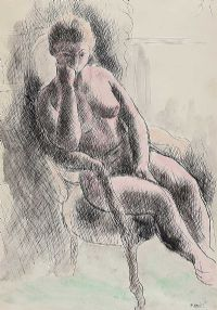 SEATED FEMALE NUDE by Daniel O'Neill at Ross's Auctions