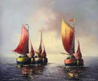 RED SAILS by E. Beckmann at Ross's Auctions