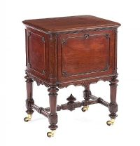 ANTIQUE MAHOGANY CELLARETTE