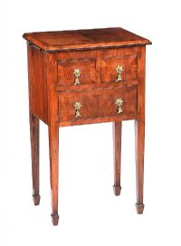 WALNUT THREE DRAWER PEDESTAL at Ross's Auctions